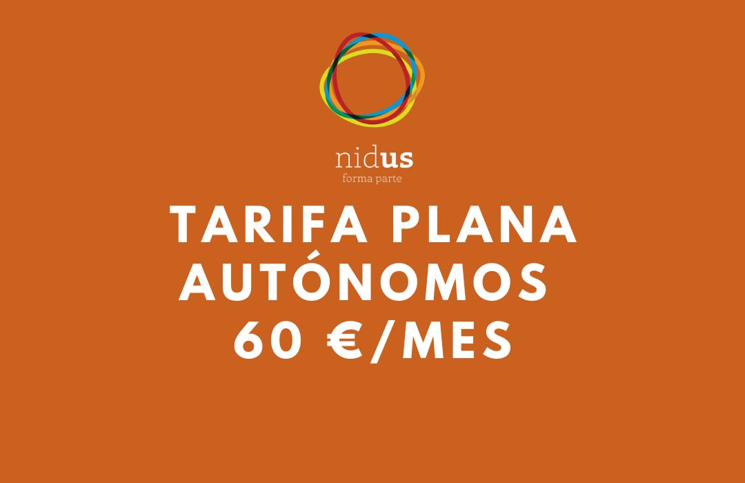 Tarifa plana para autónomos en COWORKING NIDUS
